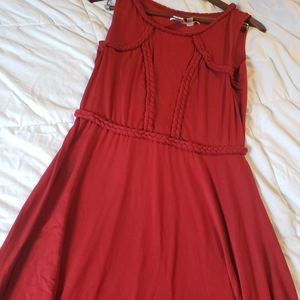 Max Studio Causal braided Red Dress - Size Large